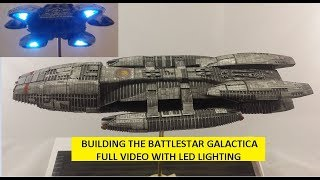 Moebius Battlestar Galactica FULL build with LIGHTING