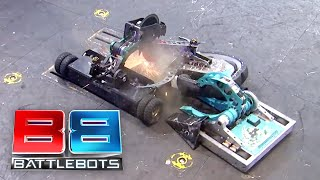 BattleBots Season 2 Exhibition Rumble - The Battle of MIT: Overhaul vs. SawBlaze vs. Road Rash