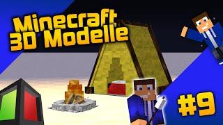Camping in Minecraft! -  Minecraft 3D Modelle #9 [Deutsch/HD]