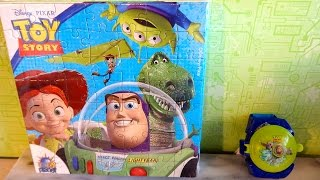 Toy Story Surprise Disc Shooter Toys And Easter Cookie Gift Box Unboxing Sorpresa