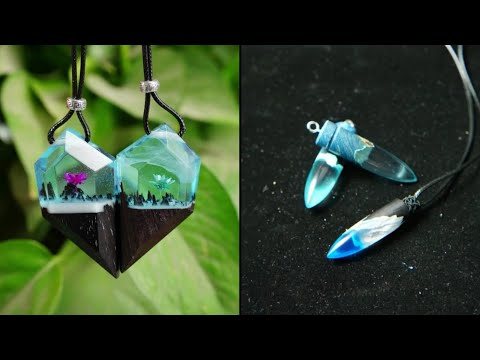 10 Resin Crafts Pendants Ways to Make Jewelry | DIY Projects and Crafts Hacks