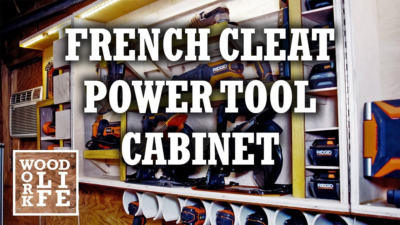 Diy French Cleat Tool Cabinet Charging Station Builds Youtube