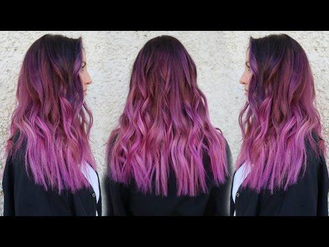 Smokey Magenta  Hair Color | Tutorial w/ Pravana XL Vivids