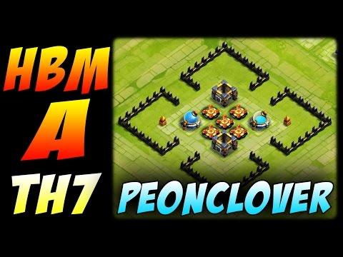 Castle Clash: Here Be Monsters A - Town Hall 7 - PeonClover Base