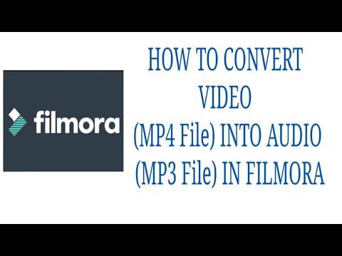 How To Convert Video (MP4 File) into Audio (MP3 File) In Filmora