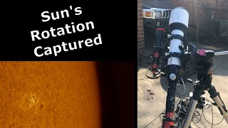 I CAPTURED and Revealed the Sun's Rotation #shorts