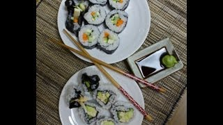 Veggie Sushi And Mock California Roll
