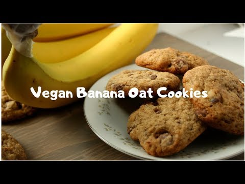 Best Vegan Banana Oat Cookies Recipe 2019