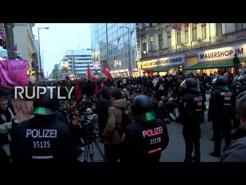 LIVE: Women's march called by AfD in Berlin met by counter-protesters