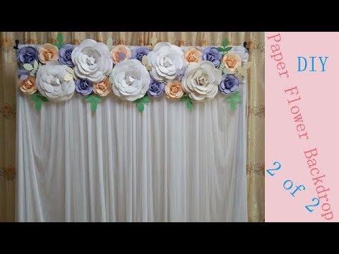 Tutorial of making paper flower backdrop / wedding backdrop ( part 2 )