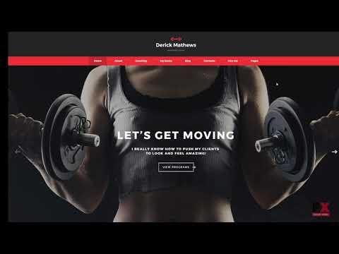 derick mathews personal trainer multipage website template tmt
