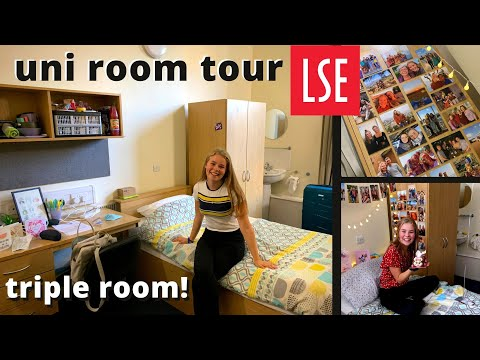 FIRST YEAR UNIVERSITY ROOM TOUR 2020!! // TRIPLE ROOM (yes I Share A Room At Uni!) AT LSE
