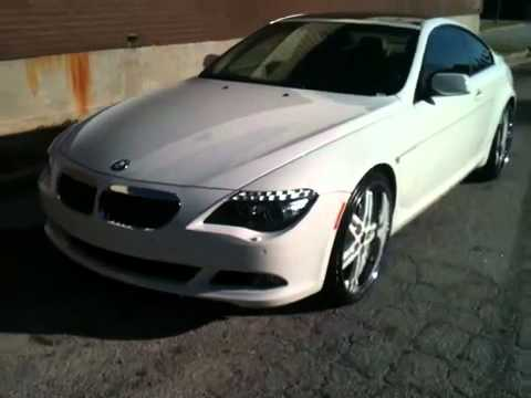 bmw 645 on 22 mht all white by southside rims youtube. Black Bedroom Furniture Sets. Home Design Ideas