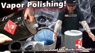Vapor Polishing Scratched ABS Plastic - It's like magic! a Fun little trick that works!