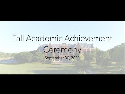 Schreiner University Fall Academic Achievement Ceremony