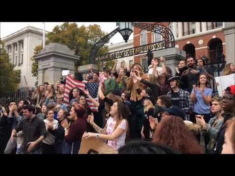 Boston Trump Protest - Massachusetts State House