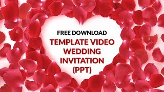 FREE DOWNLOAD PPT TEMPLATE VIDEO WEDDING INVITATION