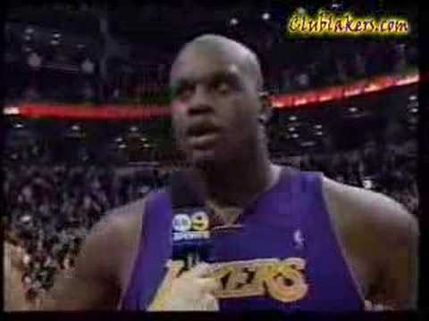 shaq swears on live tv youtube
