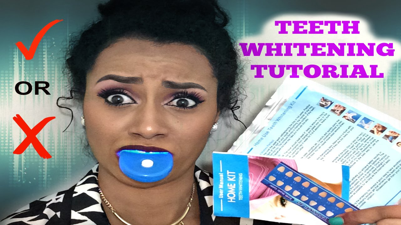 Teeth Whitening Kit Review Tutorial Home Remedy For Whiter