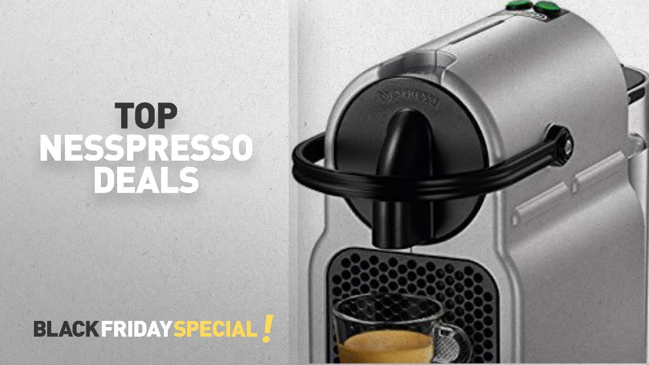 nespresso inissia espresso machine by de 39 longhi and more amazon black friday youtube. Black Bedroom Furniture Sets. Home Design Ideas