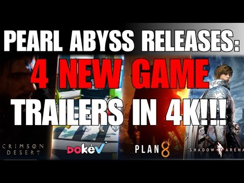 *NEW* 4 NEW GAME TRAILERS FROM PEARL ABYSS! ALL IN 4K!!! PLAN 8, DOKEV, CRIMSON DESERT, SHADOW ARENA - 동영상