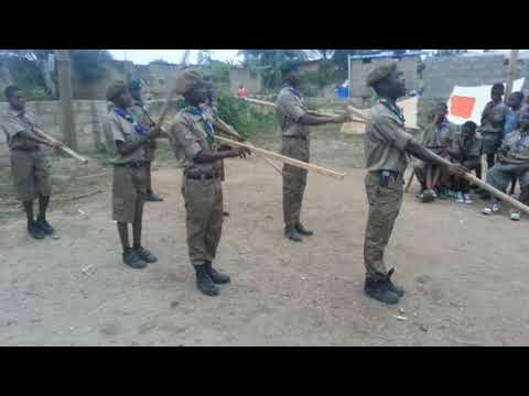 23rd Accra Garrison Scout Group Staves Drill