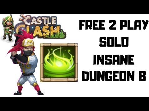 Vigorous Fury Talent And Ronin Solo Insane Dungeon 8 | Castle Clash