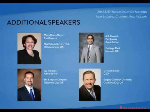 Advantage Health Plans Trust 2012 Annual Texas Member Group Webinar