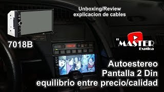 Pantalla China de 2 din 7018b, economica y muy buena unboxing/review