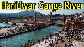 Ganga River Flowing in Haridwar | Har Ki Puri Haridwar Ganga River Side Shiv Murti | Haridwar Ganga