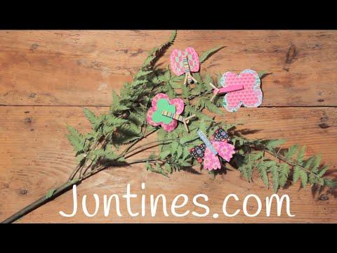 Mariposas con pinzas, una manualidad genial para niños