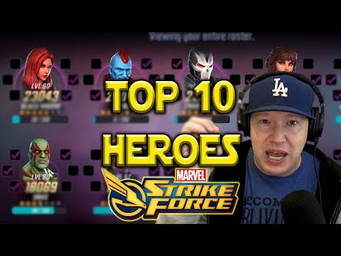 Top 10 Best Characters - May 2018 l Marvel Strike Force