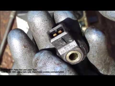 VW Polo knock sensor replace info - YouTube