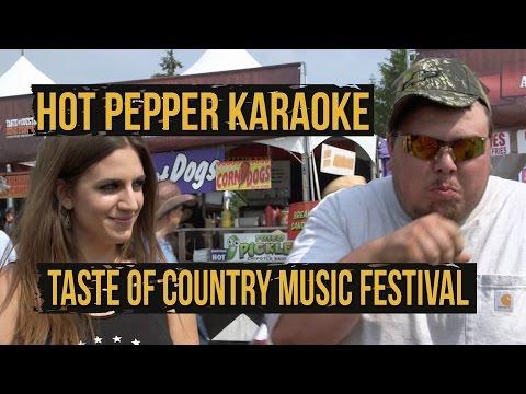 Hot Pepper Karaoke at the 2015 Taste of Country Music Festival