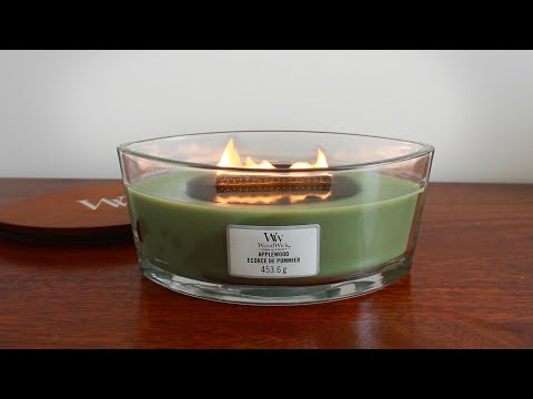Woodwick Crackling Candle ASMR - 3DIO 1 Hour [No Talking] 🕯️