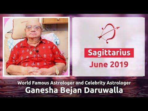 SAGITTARIUS JUNE 2019 ASTROLOGY HOROSCOPE FORECAST BY ASTROLOGER GANESHA  BEJAN DARUWALLA