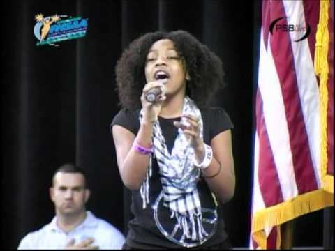 azriel sings national anthem cheerleading championships.wmv