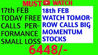 Nifty/Banknifty Stocks Intraday Trading 18th february perfect calls one Idea Beginners