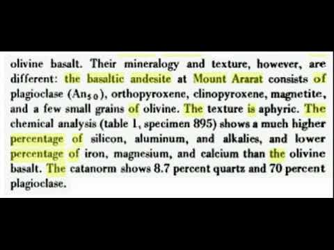 2015 Greater Mount Ararat Aromatic Cedar Petrified Wood Mineral Results