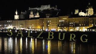 Зальцбург: панорамы Старого города(Прогулка по набережной Зальцбурга в Австрии. Красивые панорамы с мостов Зальцбурга на Старый город (Altstadt..., 2014-12-17T17:20:03.000Z)