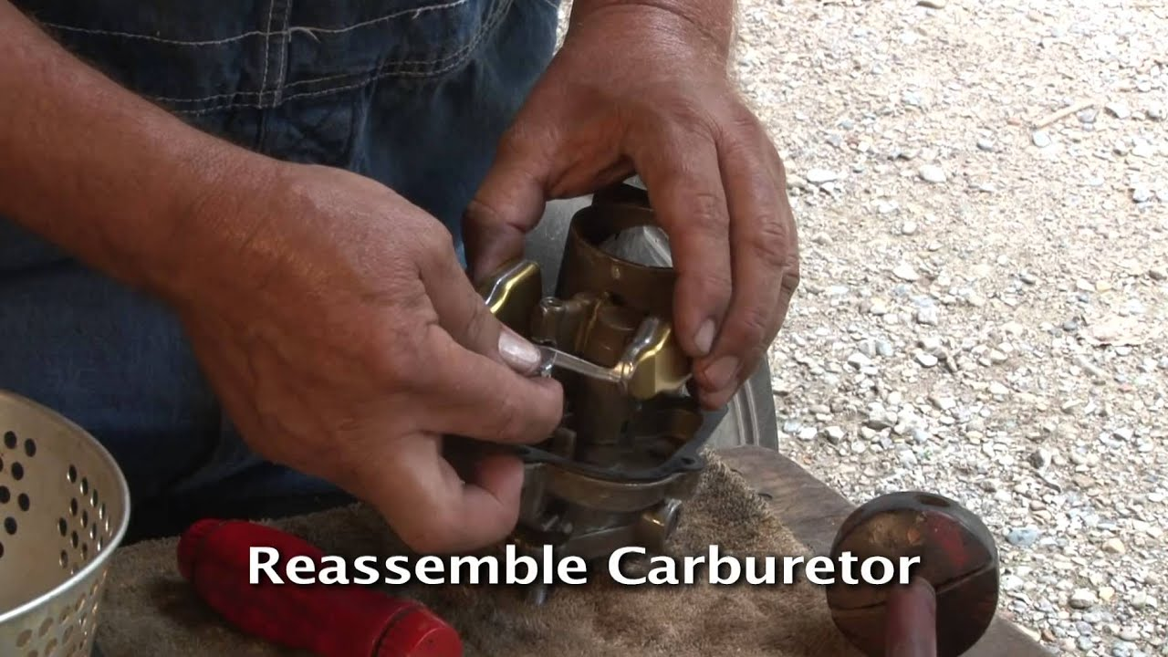 hight resolution of how to rebuild a carburetor as part of your tractor restoration