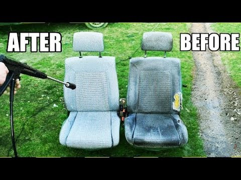 HOW TO CLEAN CAR SEATS  (ODDLY SATISFYING)
