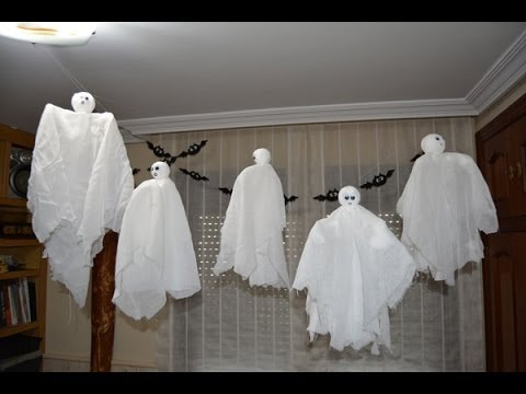 Fantasmas Voladores Para Halloween Flying Ghosts For Halloween Youtube