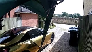 GOLD CHROME BMW I8 NEARLY GETS SMASHED ON VIDEO!
