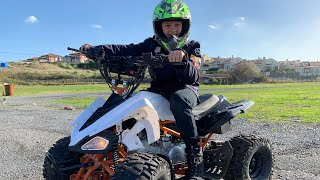 Ali ile ATV Little Driver Ride on Car in the Mud