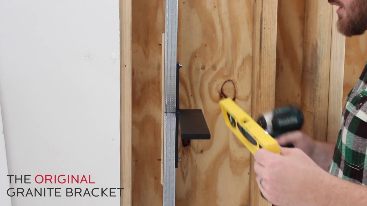 How To Install Free Hanging Shelf Bracket Metal Studs