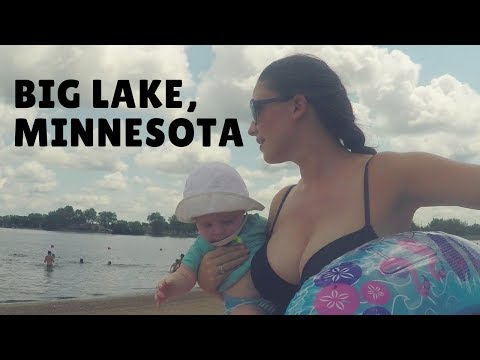 Swimming in a Big Lake in Minnesota