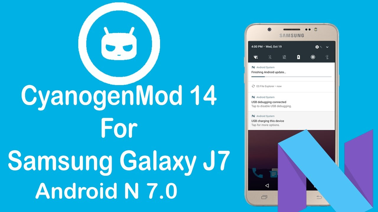 New CM14 (Android 7 0)Custom Rom For Samsung galaxy J7 l Technical