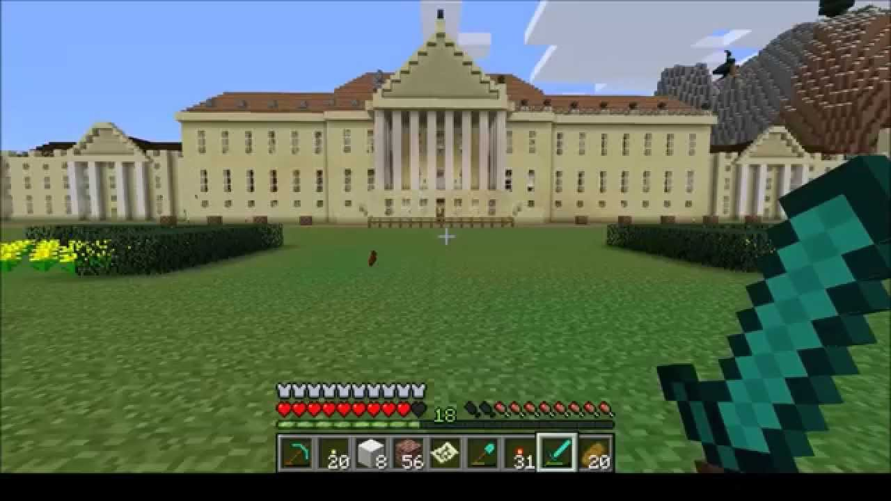 Wonderful EPIC Minecraft Manor House Wentworth Woodhouse Inside Tour Part 1