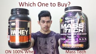 Muscletech Mass Tech Vs ON 100% Whey Gold Standard | Which One You Should Buy?